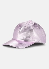 Eugenia Kim Women's Leather Baseball Cap - Purple