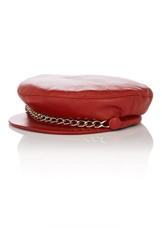 Eugenia Kim Women's Marina Leather Chauffeur Cap - Red