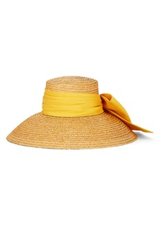 Eugenia Kim Women's Mirabel Satin-Bow Straw Hat - Neutral