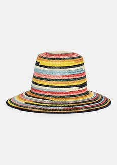 Eugenia Kim Women's Stevie Rainbow-Striped Straw Sun Hat