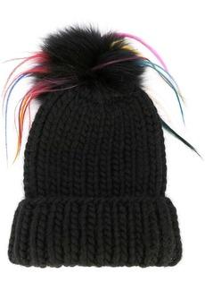Eugenia Kim faux fur pom pom knitted hat