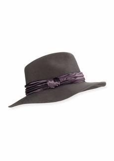 Eugenia Kim Georgina Wool Fedora Hat w/ Panne Velvet Trim