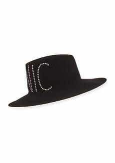 Eugenia Kim Harlowe Crystal-Embellished Iconic Wool Hat