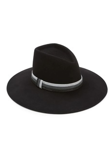 Eugenia Kim Harlowe Striped Band Wide-Brimmed Wool Fedora