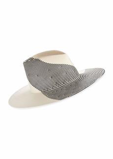 Eugenia Kim Harlowe Two-Tone Graphic Fedora Hat