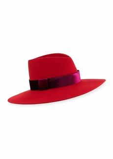 Eugenia Kim Harlowe Wool Panama Hat w/ Velvet Ribbon