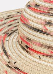 Eugenia Kim Honey Contrast Woven Straw Hat