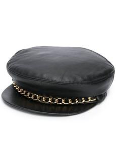 Eugenia Kim leather chain flat cap