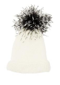 Eugenia Kim Maddox Angora & Ostrich Feather Pom Beanie