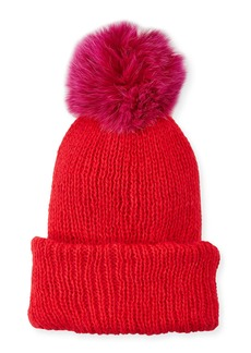 Eugenia Kim Maddox Beanie Hat w/ Fur Pompom