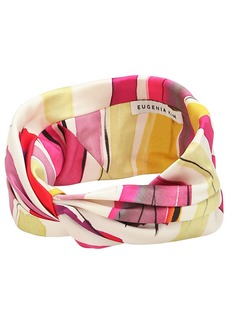 Eugenia Kim Malia Striped Satin Headband