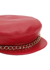 Eugenia Kim Marina Leather Captain's Hat