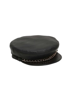 Eugenia Kim Marina Leather Captain's Hat