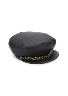 Eugenia Kim Marina Leather Marine Cap