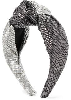 Eugenia Kim Maryn Knotted Two-tone Lamé Headband