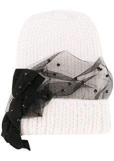 Eugenia Kim mesh trim knitted hat