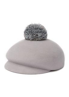 Eugenia Kim Ogden Feather Pompom Hat
