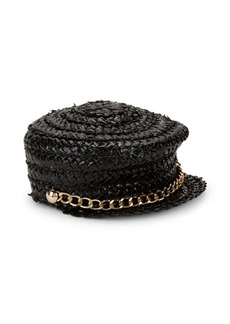 Eugenia Kim Sabrina Lacquered Swiss Braid Cap