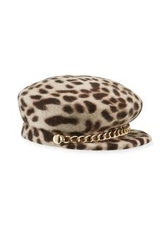 Eugenia Kim Sabrina Leopard-Print Felted Newsboy Hat