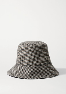 Eugenia Kim Sara Reversible Cotton-corduroy And Houndstooth Woven Bucket Hat