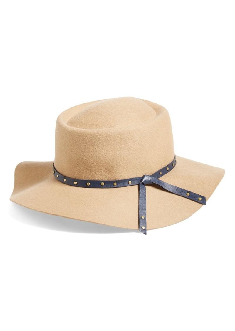 Eugenia Kim Zana Stud Trim Wool Gambler Hat