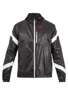 Every Second Counts Strike Through hooded performance jacket