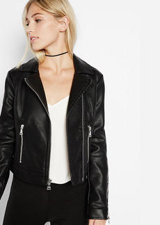 Black (Minus The) Leather Zip Moto Jacket