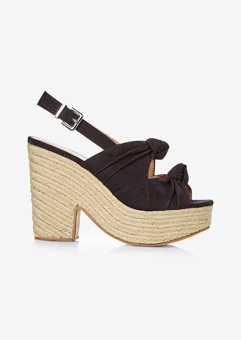 Express Bow Espadrille Heeled Sandal