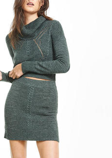 Cable Knit Fitted Mini Skirt