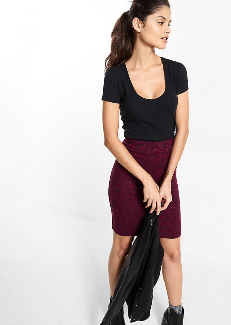 Express Cozy Jersey Pencil Skirt