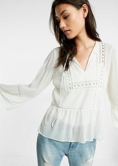 Crochet Bell Sleeve Blouse