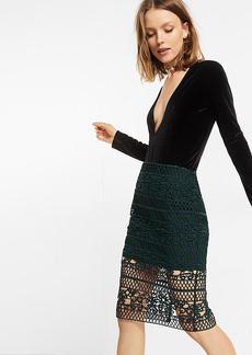 Crocheted Pencil Skirt