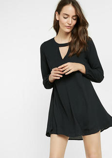 Cut Out Pintucked Trapeze Dress