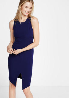 Cut Out Shoulder Midi Sheath Dress