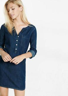 Dark Denim Popover Shirt Dress