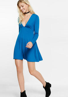Deep V Fit And Flare Dress
