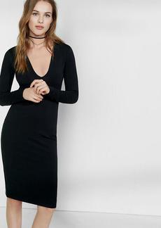 Deep V Neck Sheath Dress