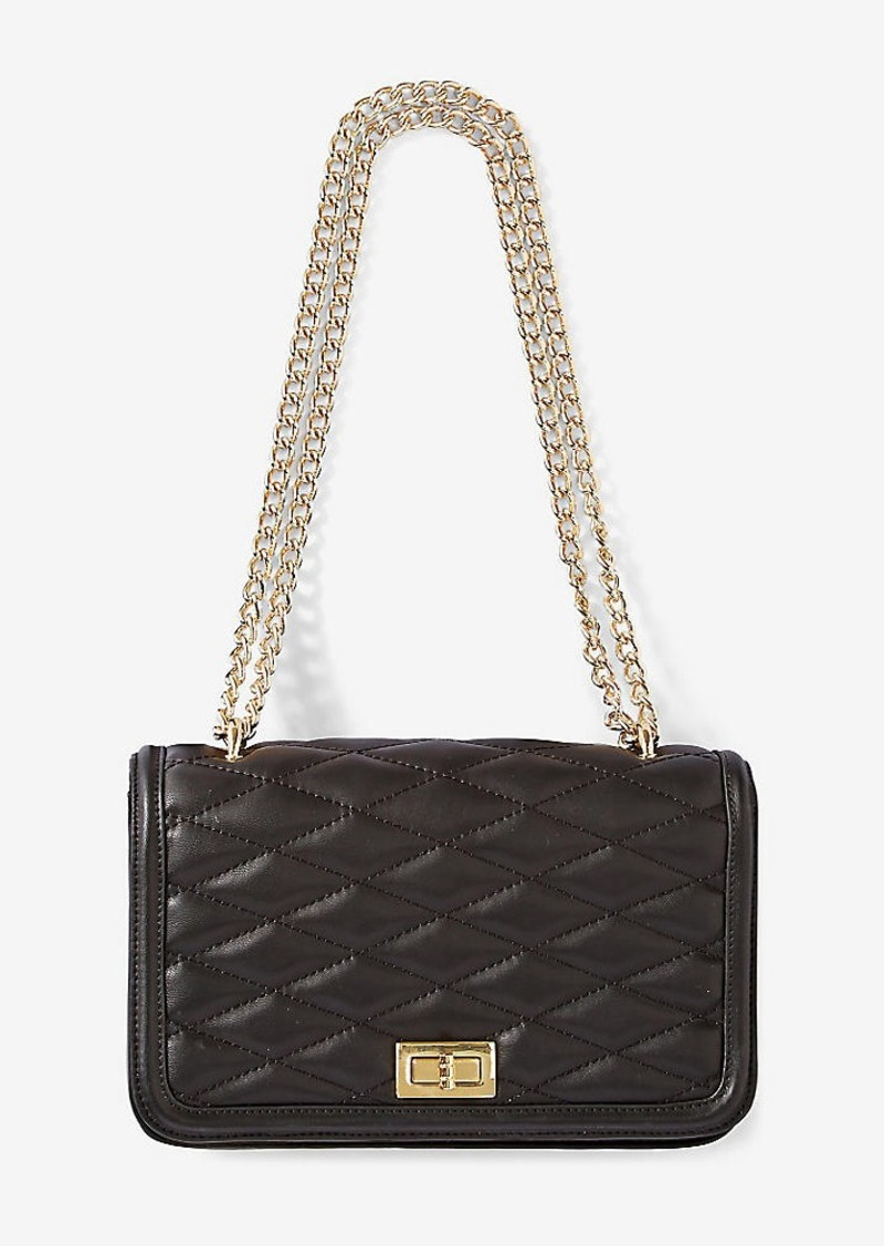 2e884178aa Express Diamond Quilted Chain Strap Shoulder Bag