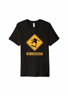Express Do A kickflip skateboarding t-shirt
