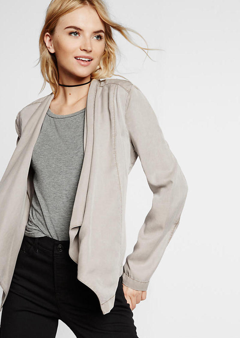 Express Drape Front Silky Soft Twill Jacket