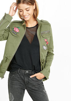 Embroidered Four Pocket Military Parka