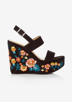 Express Embroidered Wedge Sandal