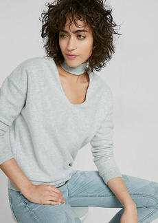 Express One Eleven Deep V Choker Sweatshirt