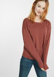 Express One Eleven Distressed Sweatshirt