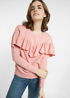 Express One Eleven Ruffle Sweatshirt