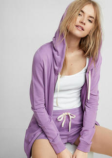 Express One Eleven Washed Zip Front Hoodie