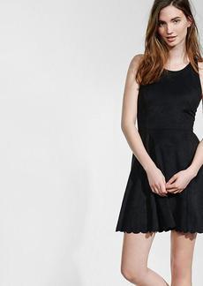Faux Suede Skater Dress
