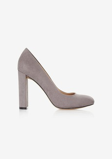 Express Faux Suede Thick Heeled Pump
