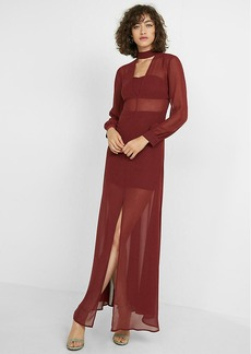 Halter V Neck Maxi Dress
