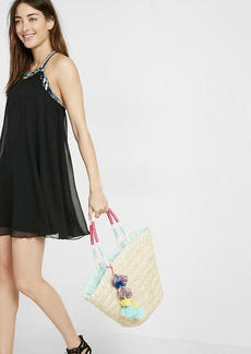 High Neck Strappy Trapeze Dress